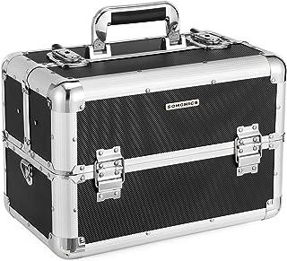 Kosmetikkoffer schminkkoffer XXL groß für Gepäck, Alu multikoffer etagenkoffer mit..