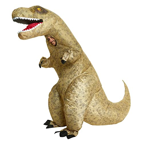 Jurassic Inflatable Dinosaur T-Rex Fancy Dress Costume Unisex  -  One size fits most