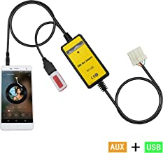 Aux Interface,Yomikoo USB/AUX Mp3 Player Adapter Car Digital Music Cd Changer 3.5mm for Mazda 2004-2008 M3 2002-2008 M6 1999-2003 323 2003-2008 Miata 2003-2008 MX5 2002-2006 MPV 2007-2008 CX7