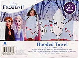 Disney Frozen II Snowman Elsa & Anna Hooded Towel Olaf, 100% Cotton - Blue