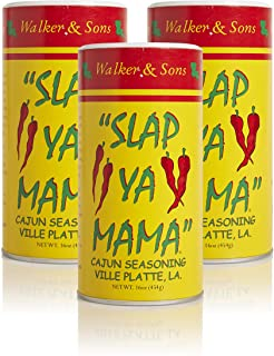 Slap Ya Mama All Natural Cajun Seasoning from Louisiana, Original Blend, MSG Free and Kosher, 16-Ounce Canisters, Pack of 3