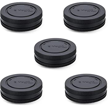 5 Pack Body Cap and Rear Lens Cap Cover Kit for Sony Alpha and NEX Series E-Mount Camera & Lens for Sony A7 A7II A7III A7C A7S A7SII A7SIII A7R A7RII A7RIII A7RIV A6600 A6500 A6400 A6300 A6100 A6000