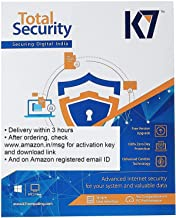 K7 Total Security Plus Latest Version 5 PC 1 Year 1 Key (Email Delivery in 2 Hours - No CD)