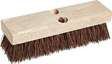 Weiler 44026 Palmyra Fill Deck Scrub Brush with Wood Block, 10