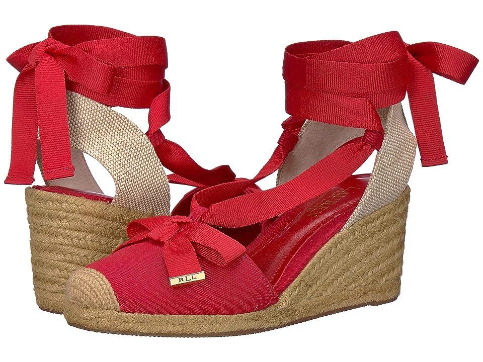LAUREN Ralph Lauren Hollie (RL2000 Red Canvas) High Heels