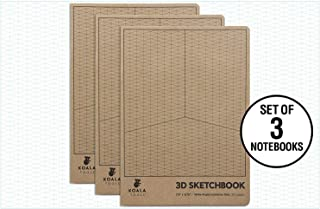 Koala Tools | Isometric Graph Paper Notebook (3 Pack) | 7.5
