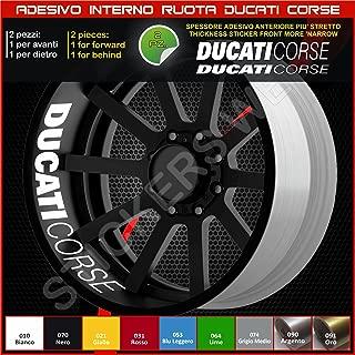Tiras de pegatinas para las llantas de las ruedas Ducati Monster Multistrada Hypermotard en un único colorCódigo 0227 010 Bianco
