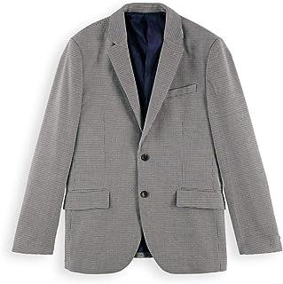 Scotch & Soda Men's Classic Single Breasted Blazer in Yarn-Dyed Pattern