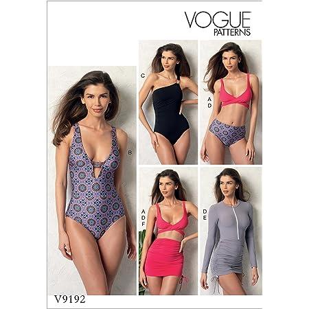 【vogue patterns】トップ ボトム ワンピース カバーアップ スイミングウェア 水着の型紙セット サイズ:US6-8-10-12-14 *9192 [並行輸入品]