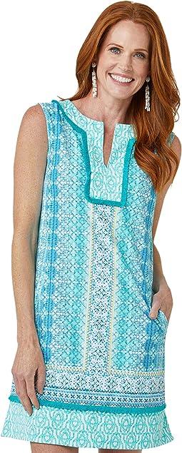 Coastal Cottage Sleeveless Tunic Dress Cover-Up