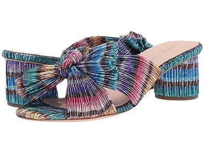 Loeffler Randall Emilia Pleated Knot Mule (Rainbow Pleated Lame) Women