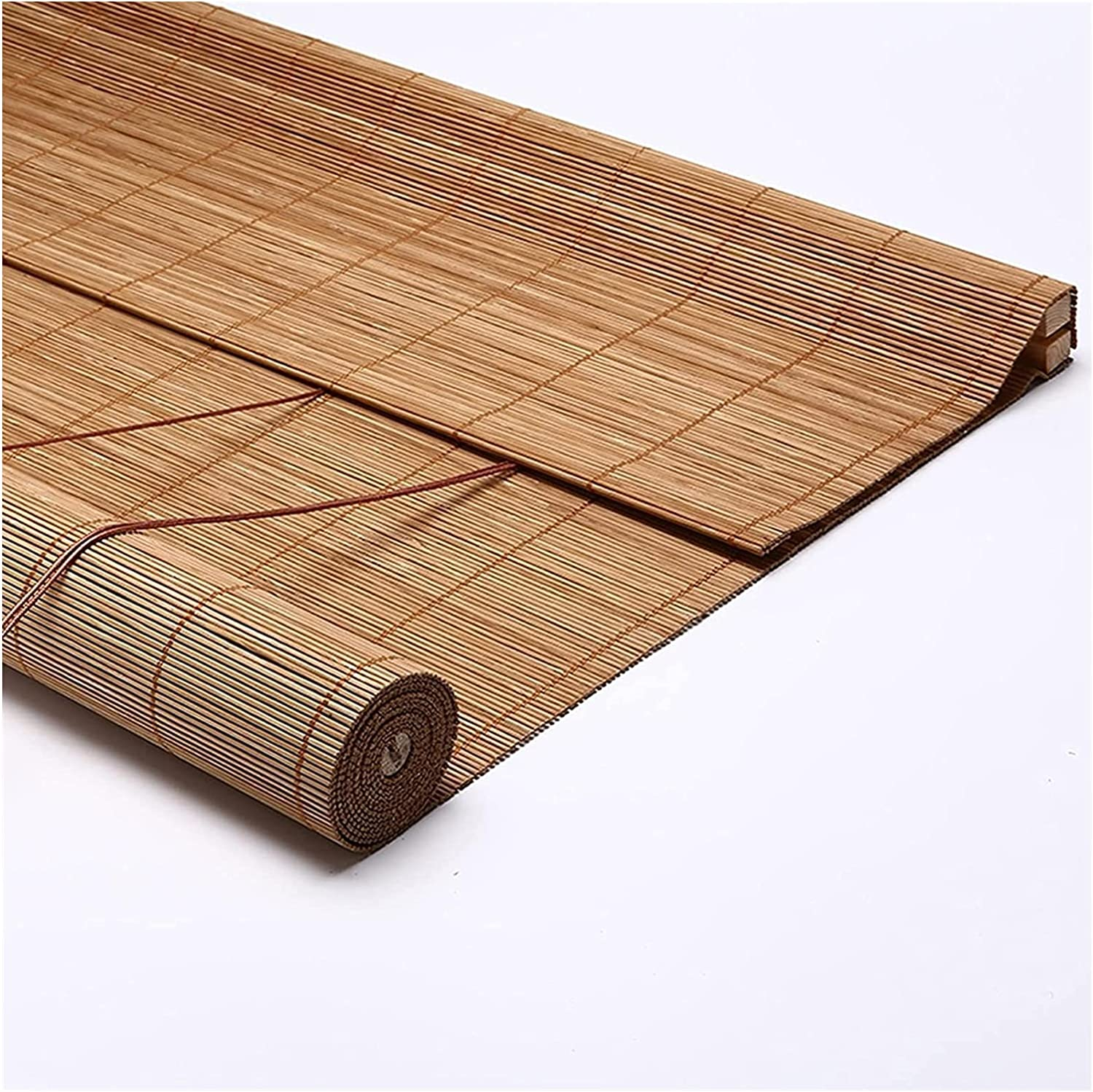 MTDWEITOO Bamboo Blinds for Windows Roll Up Blind Carbonization Quality inspection Seasonal Wrap Introduction