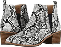 Black/White Snake Print Leather