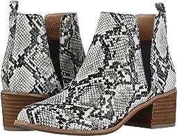 Black/White Snake Print Leather