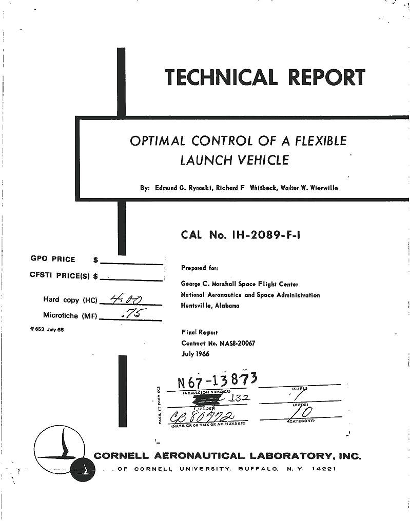 利用可能付き添い人プラスチックOptimal control of a flexible launch vehicle Final report (English Edition)