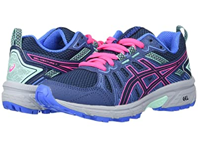 ASICS Kids GEL-Venture 7 (Little Kid/Big Kid) (Peacoat/Hot Pink) Girls Shoes