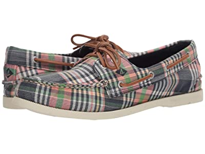 Sperry A/O 2-Eye Kick Back (Kick Back Plaid) Men