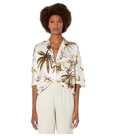 Vince Mixed Tropical Garden PJ Shirt (Pale Alder) Women