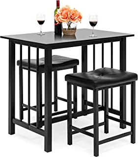 Best Choice Products Kitchen Marble Table Dining Set w/ 2...