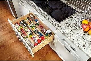 Rev-A-Shelf 4SDI-24 24 Inch Wooden Spice Drawer Storage Organizer Insert, Maple