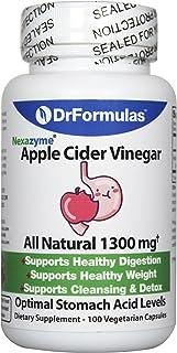 DrFormulas Apple Cider Vinegar Capsules for Weight Loss & Healthy Digestion, Raw Organic Pills, 100 Vegetarian Capsule Sup...