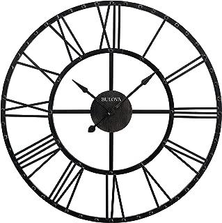 Bulova C4820 Carmen Wall Clock, Black