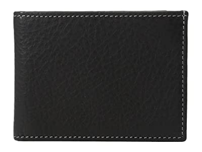 Johnston & Murphy Super Slim Wallet (Black) Bill-fold Wallet