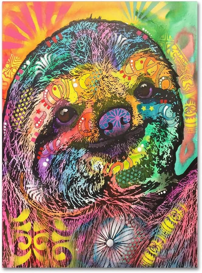 Sloth by Dean Russo 24x32-Inch Attention brand Art Wall Canvas 100% quality warranty