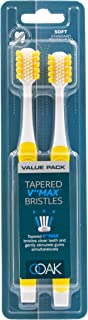OOAK Toothbrush, Tapered V++Max Soft Bristles, 2 Pack - Yellow