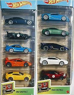 Hot Wheels 2020 and 2021 HW Exotics 5 Packs 10 Car Bundle Set
