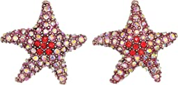 Betsey Johnson Pink Starfish Stud Earrings