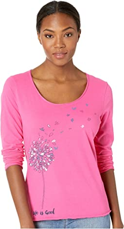 Free Spirit Flower Smooth Long Sleeve T-Shirt