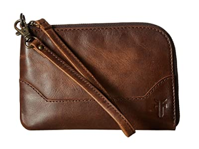 Frye Melissa Wristlet (Dark Brown Antique Pull Up) Wristlet Handbags