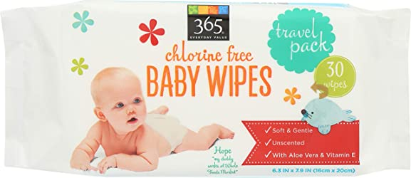 365 Everyday Value, Baby Wipes Travel Size, 30 ct