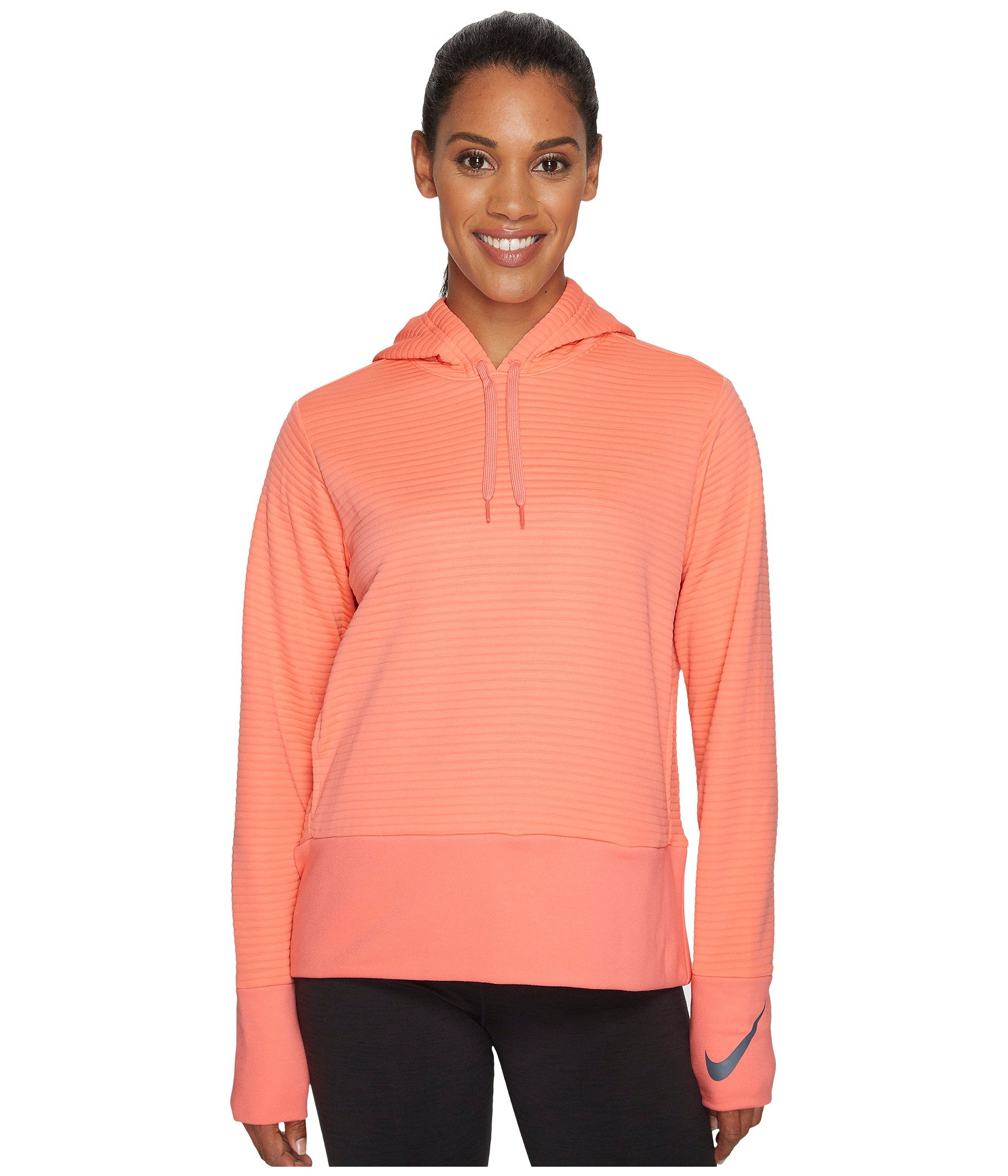 d3f137be2386 Nike Dry Training Pullover Hoodie In Sunblush Dark Grey