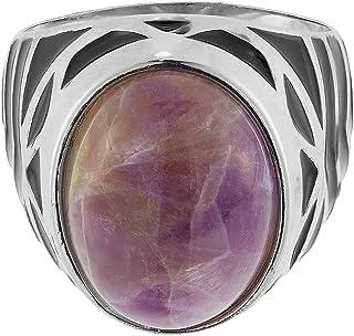 Aurora Men's Silver Aqeeq Grape Ring