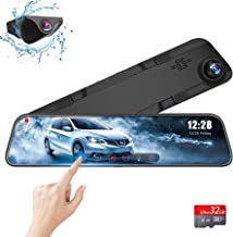 "$158 » Rearview Mirror Dash Cam Front and Rear Backup Camera, Parking Assitance and Night Vision with Sony 1296P Stream Media 12"" IPS Full Touch Screen Car Recorder for Cars/Trucks (GPS & 32G Card Included)"