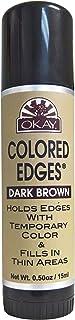 OKAY OKAY-EDGEDBT1 0.5 oz & 15 ml Colored Edges Dark Brown Tube Stick