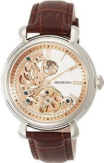 [ブルッキアーナ]BROOKIANA オリジン クレッシェンドムーン 自動巻き シルバー×ブラウンレザー BA2602-RGWH メンズ 腕時計