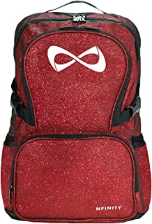 red glitter cheer backpack