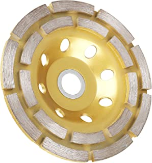 EEEKit 4-1/2-Inch Double-Row Diamond Cup Grinding Wheel, 12-Segment Heavy Duty Turbo Row Concrete Grinding Wheel Disc for Angle Grinder, for Granite, Stone, Marble, Masonry, Concrete