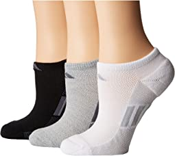Climacool® Superlite Stripe No Show Socks 3-Pack