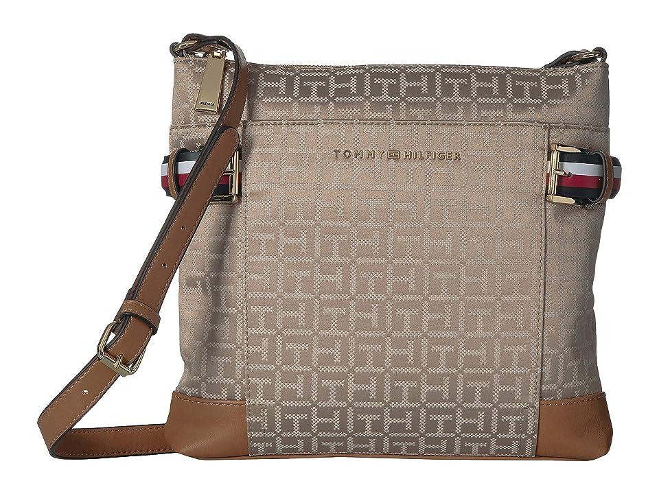 Tommy Hilfiger Meriden Crossbody (Khaki/Tonal) Handbags, Neutral