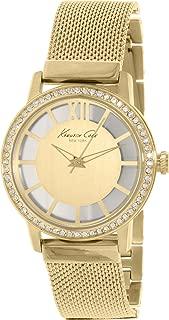 Kenneth Cole New York  Women's Quartz Stainless Steel Case Stainless Steel Bracelet Gold,(Model:KC4956)