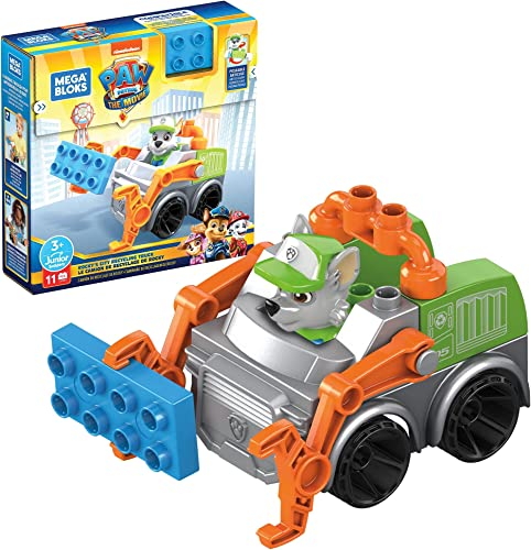 Mega Bloks PAW Patrol Rocky's City Recycling Truck Building Toys for Toddlers (11 Pieces)