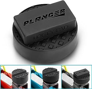 PLANGER® - Lofty Pad – Bloque de Goma ranurado Universal Antideslizante para Jack Pad - Protector de Coche Anti daños en el Bastidor de Coche - Goma Altamente Resistente
