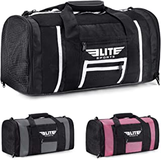 Elite Sports Boxing Gym Duffle Bag for MMA, BJJ, Jiu Jitsu Gear, Duffel Athletic Gym Boxing Bag
