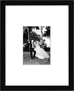 Americanflat 11x14 Black Frame Displays 5x7 Pictures Without Mat
