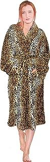 Home Soft Things Men & Women Bathrobe Printed Flannel Fleece Cloth Robe, Cheetah, L/XL