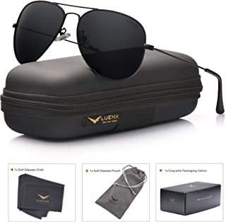 LUENX Men Aviator Sunglasses Polarized - UV 400...